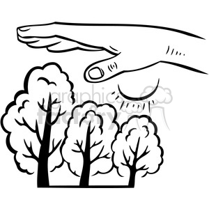 Royalty-Free eco human effects 095 386180 vector clip art