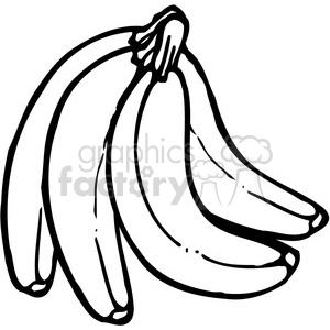 banana 3 bunch clipart. royalty-free