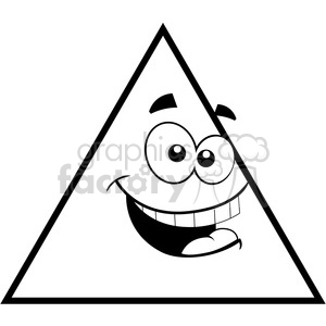 Royalty-Free geometry triangle cartoon face math clip art