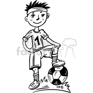 Royalty-Free young boy soccer player 381515 vector clip