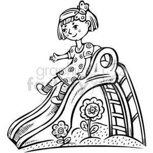 Royalty-Free girl playing on a slide 381530 vector clip
