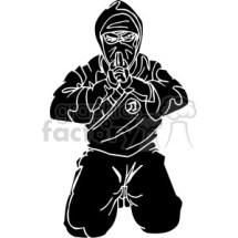 RoyaltyFree ninja clipart 031 384723 vector clip art