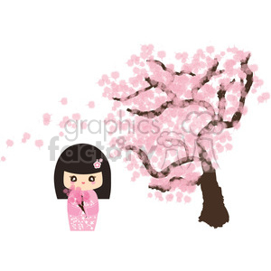 African Animal Wallpaper Border Royalty Free Geisha Cherry Blossom Cartoon Character