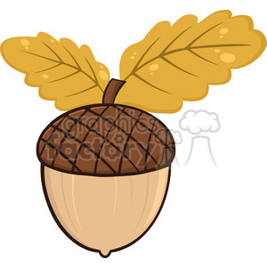 Royalty Free Rf Clipart Illustration Acorn With Oak Leaves Cartoon Illustrations Clipart Commercial Use Gif Jpg Png Eps Svg Ai Pdf Clipart 395754 Graphics Factory