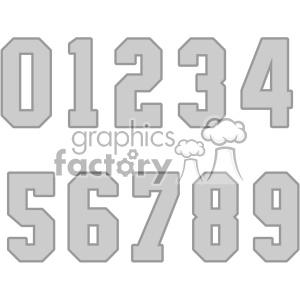 Download Royalty-Free number set vector svg cut files art 403790 ...