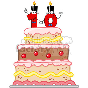 128126 Rf Clipart Illustration Birthday Cake With Number