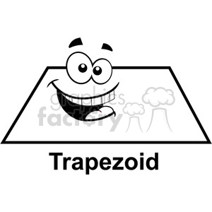 geometry trapezoid cartoon face math clip art graphics