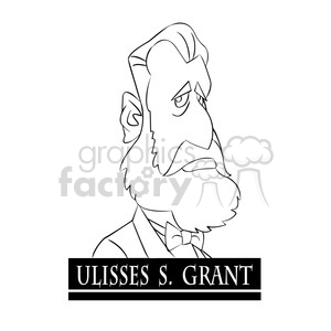 Royalty-Free ulisses s grant black and white 393332 vector