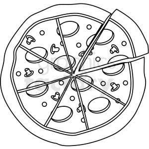 pizza outline clipart. Royalty-free GIF, JPG, PNG, EPS