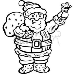 Royalty-Free Santa cartoon instant download clipart image