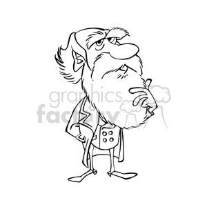 Royalty-Free Charles Darwin bw cartoon caricature 391684