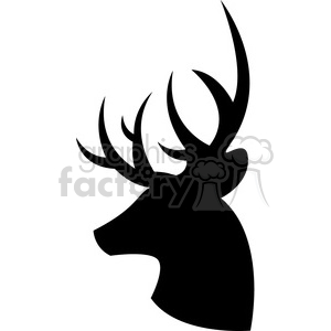 side silhouette buck deer