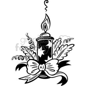 Royalty-Free Christmas candle 381132 vector clip art image
