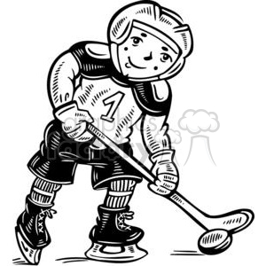 child hockey player clipart. Royalty-free clipart # 381573