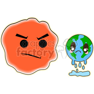 Royalty Free Global Warming 394596 Vector Clip Art Image