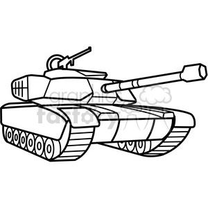 military tank outline clipart