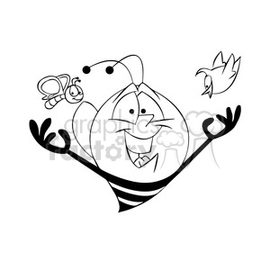 Royalty-Free bob the bee spring black white 397692 vector