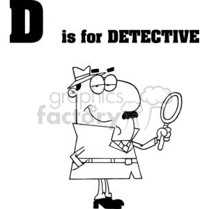 D is for Detective clipart. Royalty-free clipart # 378091