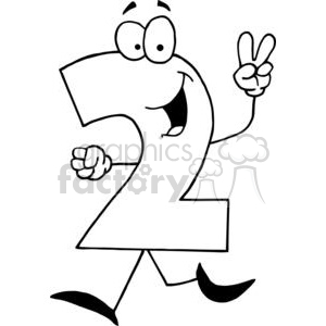 Royalty-Free Happy Number 2 378271 vector clip art image