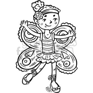 girl dressed up like a fairy princess clipart. Royalty