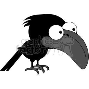 Royalty Free Cartoon Crow 1 387206 Vector Clip Art Image