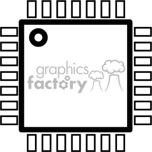 computer chip icon cartoon clipart images and clip art