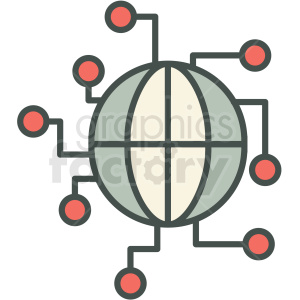 global infrastructure vector icon