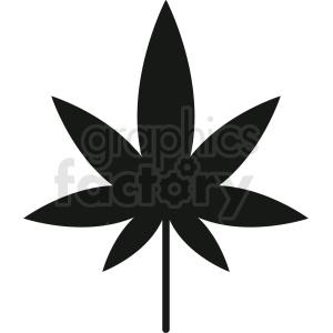 vector marijuana leaf silhouette