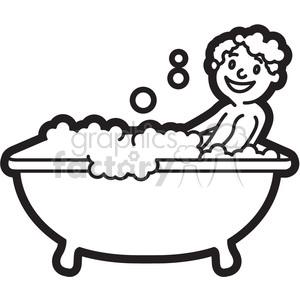 boy taking a bath