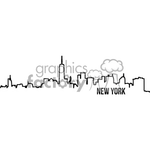 Royalty-Free new york city skyline vector art outline