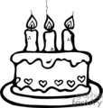 Royalty-Free black and white birthday cake 370731 vector