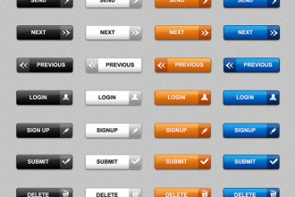 Download web buttons in PSD & PNG (pack of 60)