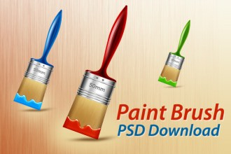 PSD paint brushes in 3 colors