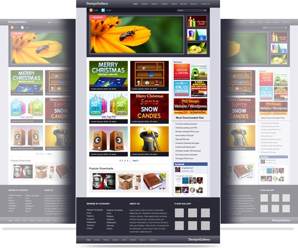 Website Gallery PSD Template