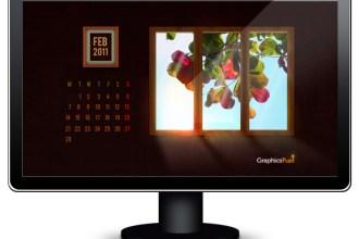 Wallpaper calendar: February 2011