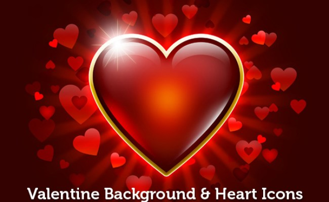 Valentine Background Heart Icons Graphicsfuel