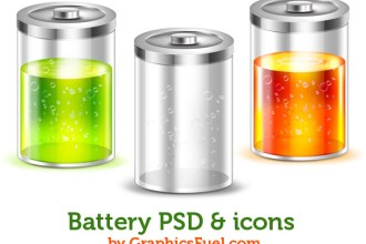 Battery PSD & icons