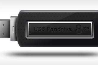 USB pen-drive icon (PSD)