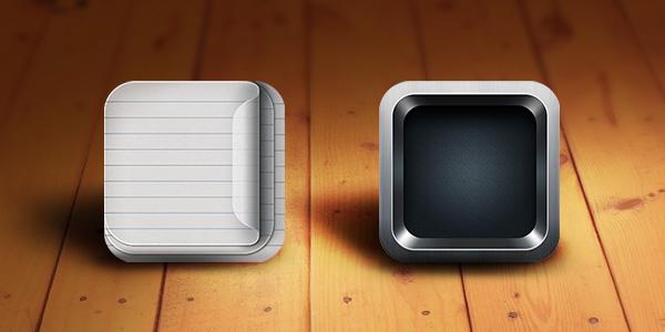 RetinaReady iOS App Icon Templates PSD  GraphicsFuel