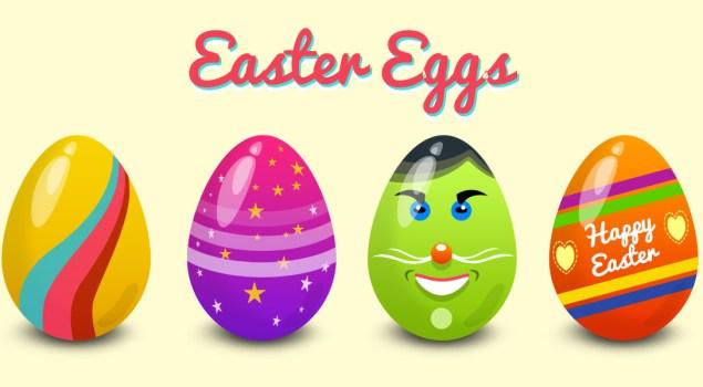 Easter Eggs Vector PSD