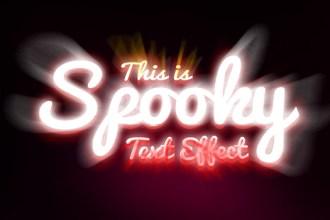 Spooky Text Effect PSD