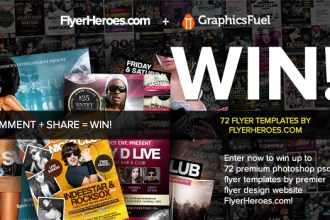 Giveaway:  72 Photoshop PSD Nightclub Flyer Templates From FlyerHeroes