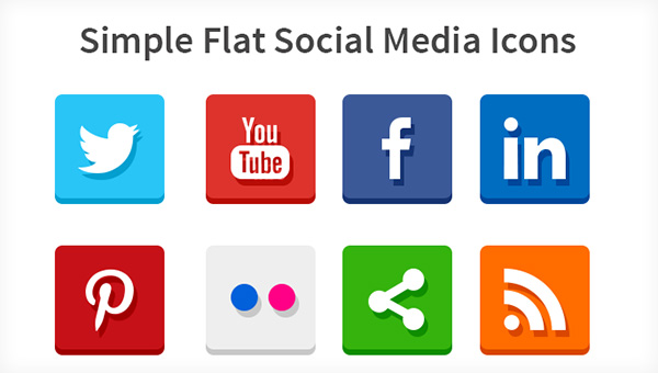 simple-flat-social-media-icons