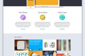 BlueBox: Flat Website PSD Templates Design