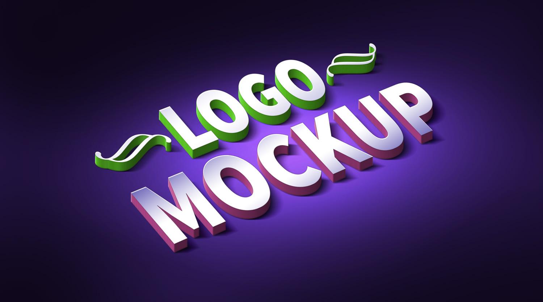 logo text mockup large