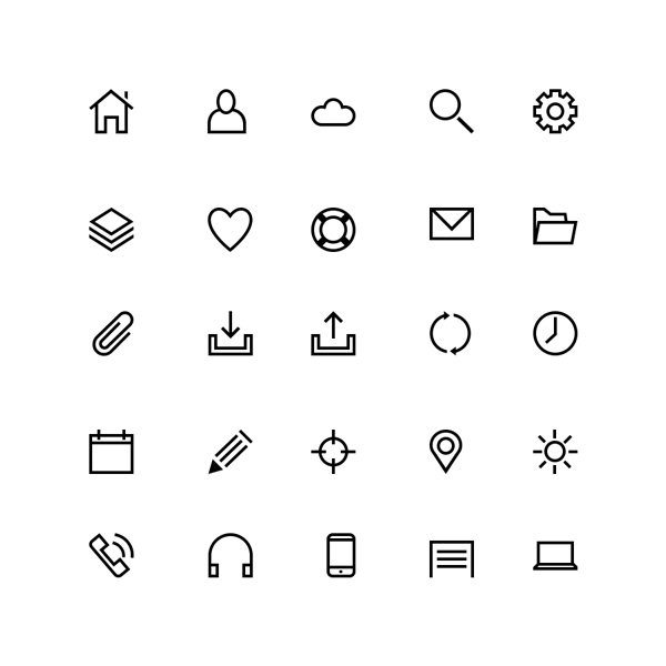 25-line-icons-preview