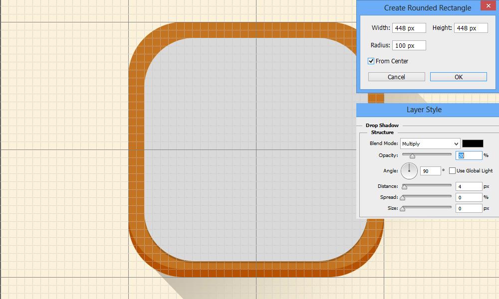 ios7 flat icon PS tutorial