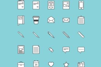 25 Free Illustrative Vector Icons