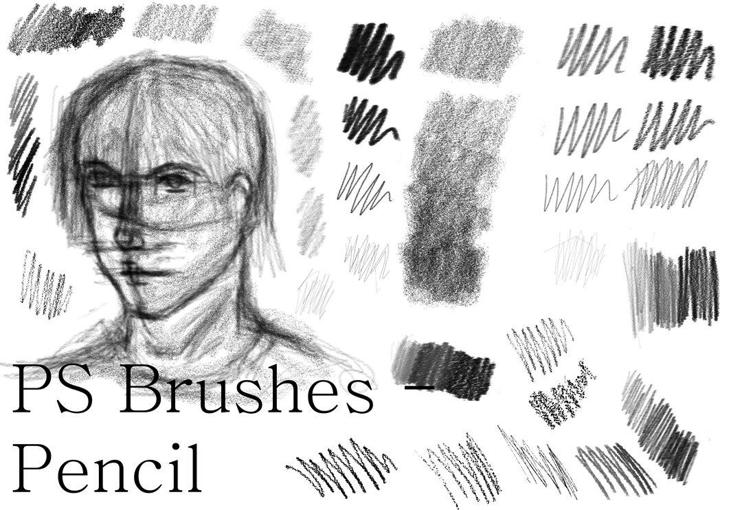 Pencil Sketch Brushes Photoshop