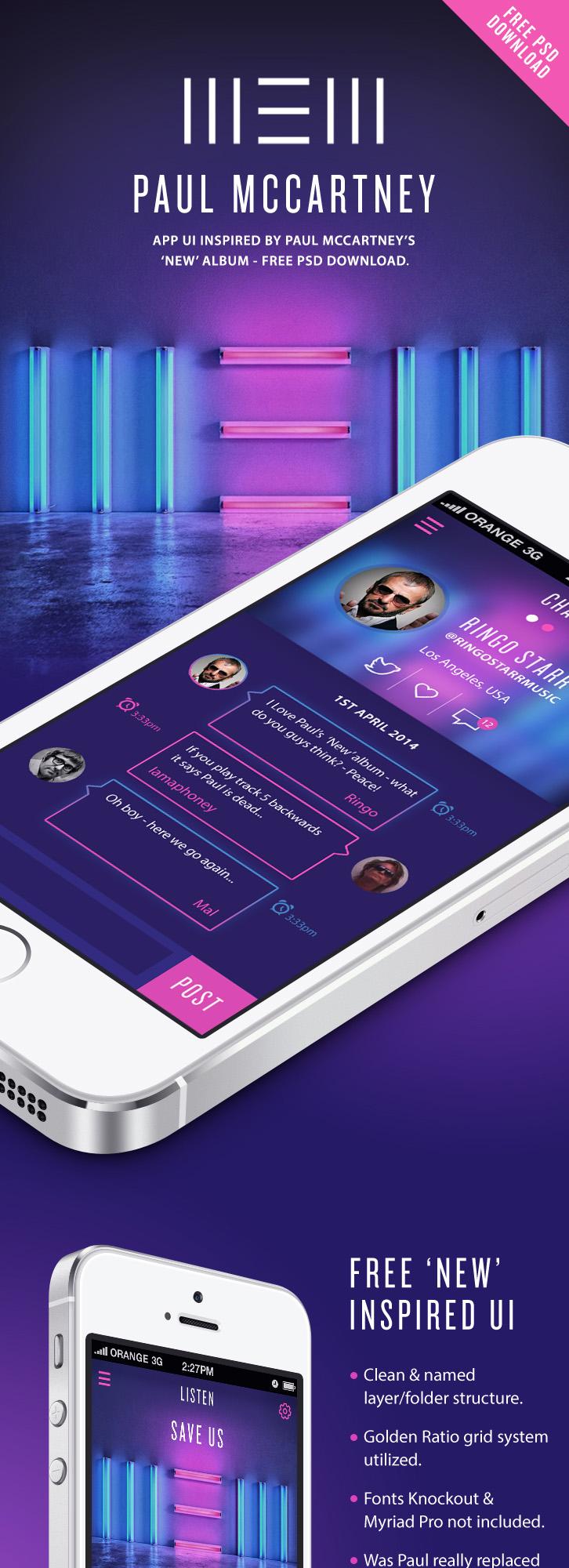Free App UI PSD